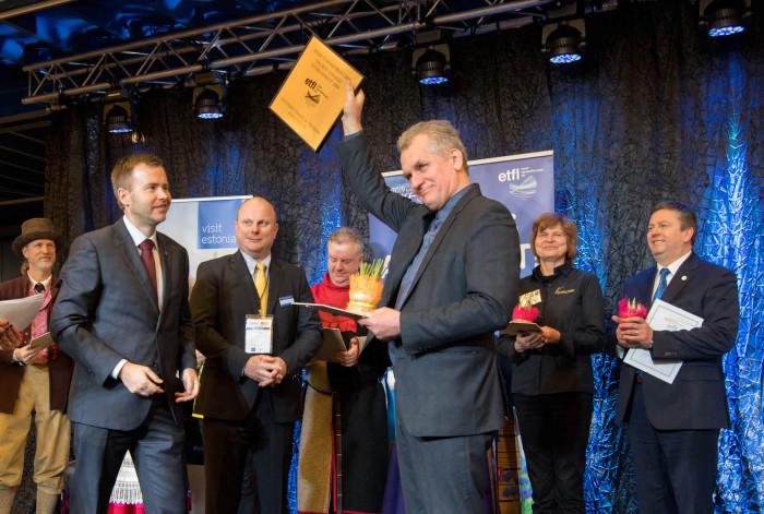 Пеэтер Мауэр получает награду «Лучший туристический объект года»